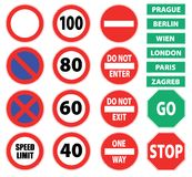 Traffic signs Stock Photo