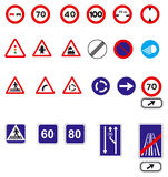 Traffic signs. In vector format vector illustration
