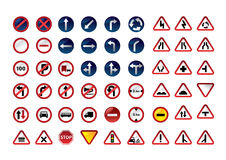 Traffic signs. Traffic signs on white. Vector illustration Stock Photo