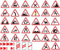 Traffic signs. Vector illustration warning traffic signs Royalty Free Stock Photography