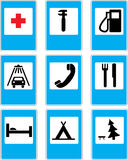 Traffic signs. Service traffic signs in s Stock Image