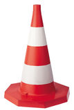 Traffic signs. Road Cone with reflective bands stock images