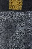 Traffic signs on the asphalt background stock photo