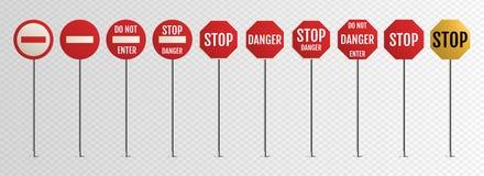 Traffic signs. Blank warning, danger vector illustration