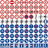Traffic Signs Collection [2]. Set of 100 traffic signs including prohibition and obligation signs, isolated on white background. You can find other road signs in Stock Photography