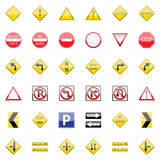 Traffic Signs Collection Stock Photo