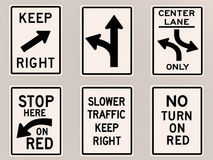 Traffic signs 3D image Stock Photo