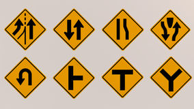 Traffic signs 3D image Royalty Free Stock Photography
