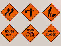 Traffic signs 3D image Royalty Free Stock Photos