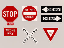 Traffic signs 3D Stock Image