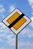 End of Right of Precedence. Traffic sign Royalty Free Stock Photos