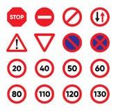 Traffic Signs icon set Stock Image