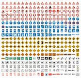 380 Traffic signs Stock Images