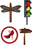 Traffic signs indexes Stock Images