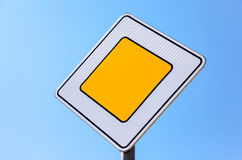 Traffic signs main road Royalty Free Stock Images