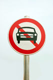 Traffic signs: no-go Stock Photo