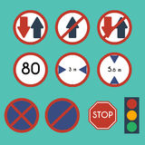 Traffic Signs Pack Set Stock Photography