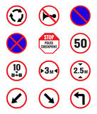 Traffic Signs Pack Set stock illustration