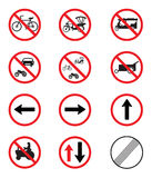 Traffic Signs Pack Set. On white background Stock Image