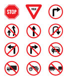 Traffic Signs Pack Set royalty free illustration