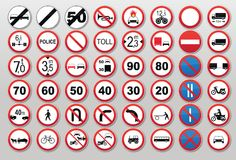 Traffic signs - Prohibit and restrict Stock Images