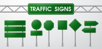 Traffic signs in realistic style Trapped by the road stock illustration