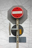 Traffic Signs safety transportation abstract line background Royalty Free Stock Photo