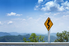 Traffic Signs. With the sky background Stock Images