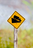 Traffic signs Slow down hill Royalty Free Stock Images