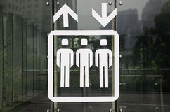 Traffic signs in a subway station. This is a creative and unique traffic signs,help us to direction Stock Photography