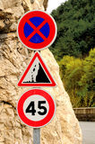 Traffic signs. Stock Photos