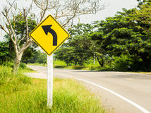 Traffic Signs turn left Royalty Free Stock Image