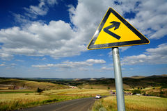Traffic Signs turn right Royalty Free Stock Image