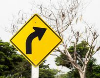Traffic Signs turn right Stock Photo