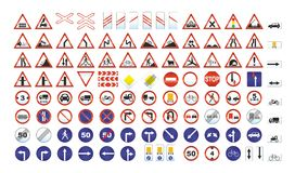 Traffic signs. On white background Royalty Free Stock Image