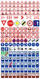 Traffic signs1. The big traffic sign collection vector royalty free illustration