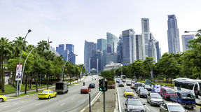 The traffic in Singapore, Asia Stock Photos