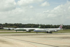 Traffic at Singapore Changi International Airport Royalty Free Stock Images