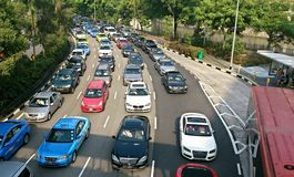 Traffic in Singapore Stock Photography