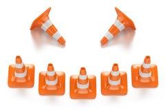 Traffic smile cones Stock Image