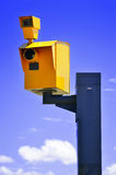 Traffic speed camera over the blue sky Royalty Free Stock Images