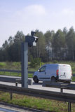 Traffic Speed Camera. Police radar. Traffic Speed Camera. Police radar on the highway Stock Photo