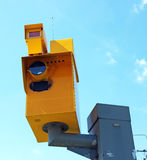 Traffic speed monitoring camera Stock Photo
