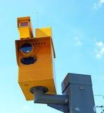 Traffic speed monitoring camera Stock Photo