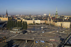 Traffic in Stockholm, Sweden. Europe Stock Photo