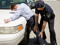 Traffic Stop - Pat Down Stock Photo
