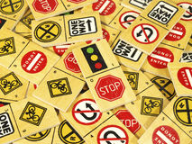 Traffic stop sign dominoes Stock Photography