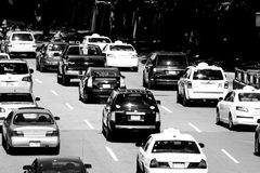 Traffic on Storrow Drive, Boston, MA Royalty Free Stock Photos