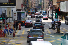 Traffic and street environment in Hongkong Royalty Free Stock Image