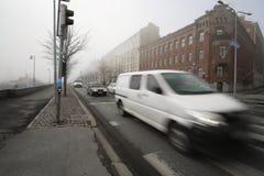 Traffic on a street in Helsinki, Finland Stock Image
